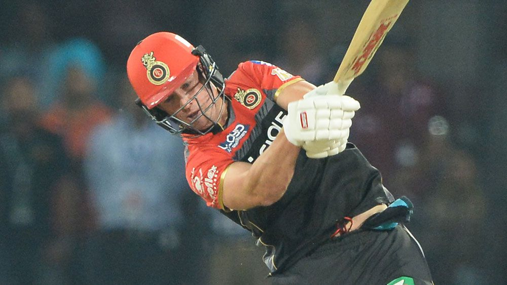 South Africa's AB de Villiers clears the roof for Royal Challengers Bangalore in IPL