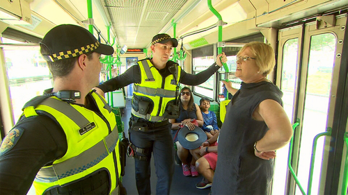 Calls are increasing for PSOs to be stationed on trams which has been done temporarily for people travelling to and from the Australian Open.