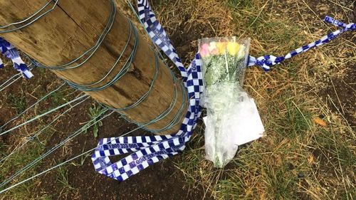 Flowers were placed at the home of Alicia Little after her death.