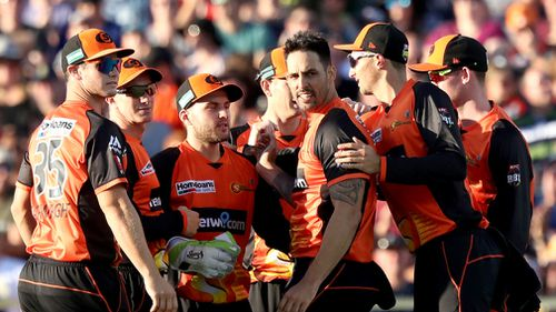 The Scorchers sit atop the BBL ladder. (AAP)