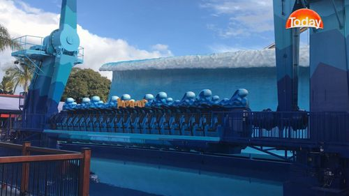 Multiple rides were not operating as no-one was lining up. Picture: 9NEWS
