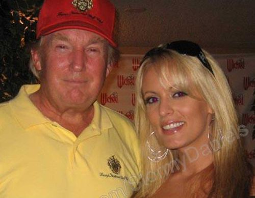 Donald Trump and Stephanie Clifford, aka Stormy Daniels. (Myspace)