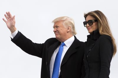 <p>In a sign of things to come, the First Lady attended the first official event, a wreath-laying ceremony at Arlington National Cemetery, in a stylish double-breasted military-inspired coat by Norisol Ferrari, an independent New York designer.</p>