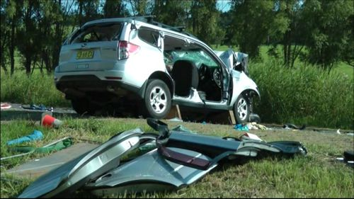 The Volvo swerved into oncoming traffic, hitting a Subaru being driven by Mr Mobarrez. (9NEWS)