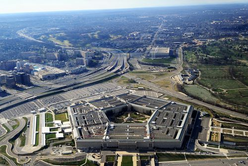 """Pentagon was locked down  due to a """"shooting event"""" that happened outside the building on a bus platform."""