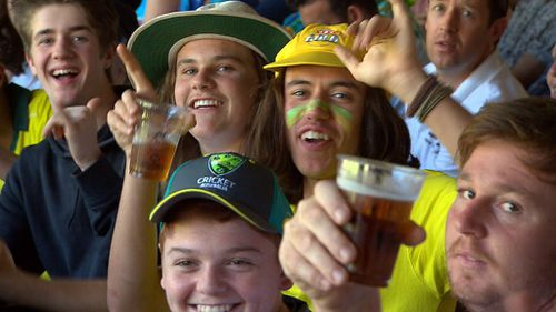 Beer was a big part of the celebrations for many of the punters. (A Current Affair)