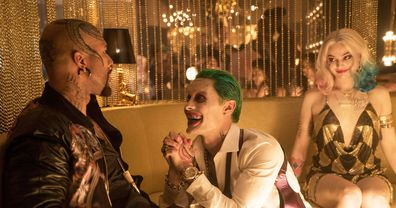 Margot Robbie and Jared Leto star in Suicide Squad.