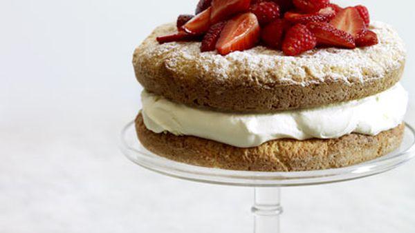 Berry and lemon crème fraîche shortcake