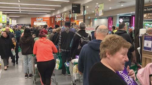 Authorities have pleaded with people not to panic buy and assured them essential shops will stay open.