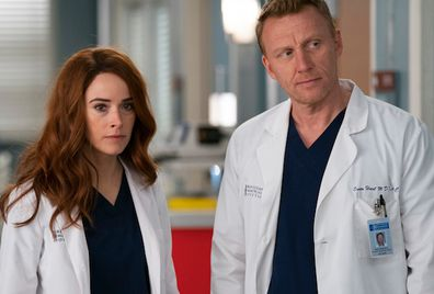 Abigail Spencer and Kevin McKidd star in Grey's Anatomy.