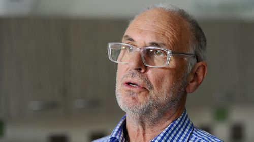 Dr Phillip Nitschke at a press conference at a community centre in eastern Melbourne in 2014. (AAP)