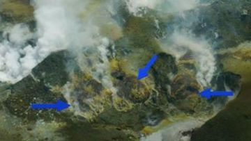 Lava visible on White Island but eruption unlikely