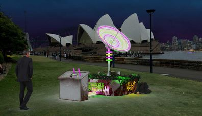 Satellite installation at Vivid Sydney 2019