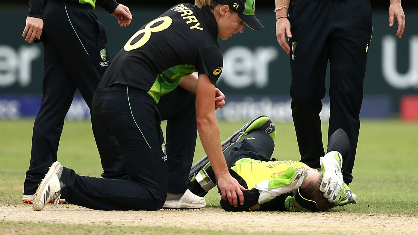 Women's World T20: Alyssa Healy hurt in teammate collision as Australia lose to India