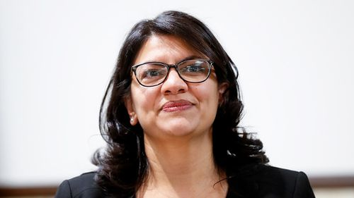 Newly elected Rep Rashida Tlaib of Michigan has riled up a supportive crowd that evening by calling the president a profanity and predicting that he will be removed from office.