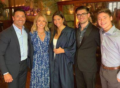Mark Consuelos, Kelly Ripa, Lola Consuelos, Michael Consuelos and Joaquin Consuelos
