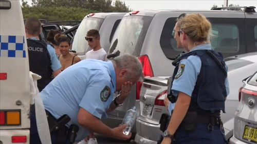 A senior constable was punched in the face multiple times.