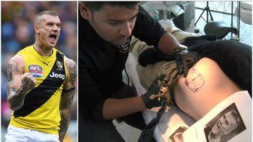 Man gets Dustin Martin tattoo on bum after losing drunk bet
