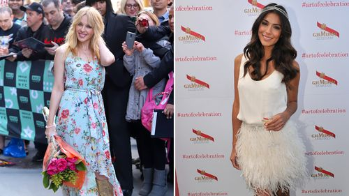 Pop princess Kylie Minogue and actress Pia Miller are the two Aussie favourites to snag a royal invite. (AAP)
