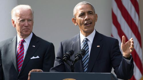 Joe Biden and US President Barack Obama