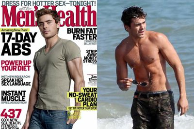 Although Zefron is a beefcake, <i>Men's Health</i> have buffed the boy up for his 2012 cover.