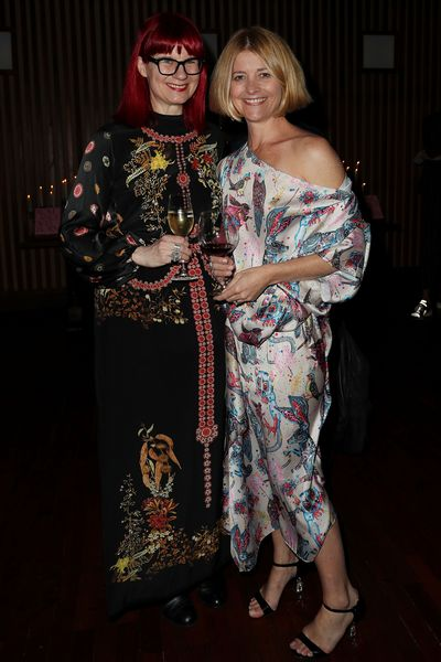 The Australia Fashion Editor Glynis Traill-Nash with Harper's BAZAAR Australia editor-in-chief Kellie Hush