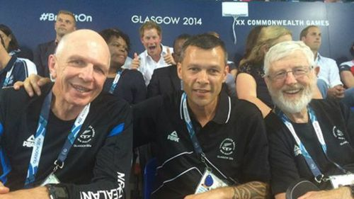 PHOTOS: Prince Harry follows Queen's lead in photobombing Comm Games