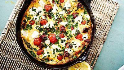"Recipe: <a href=""http://kitchen.nine.com.au/2016/05/05/13/30/chorizo-tomato-and-feta-pan-omelette"" target=""_top"">Chorizo, tomato and feta pan omelette</a>"