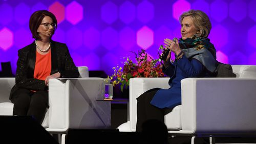 Hillary Clinton say Australia must 'stand up' to China. (AAP)