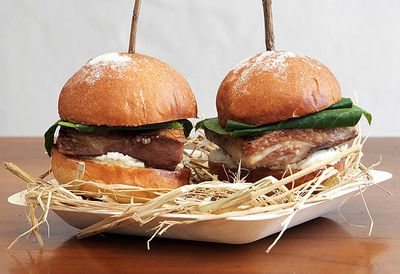 Biota's lamb belly sliders with pecora curds