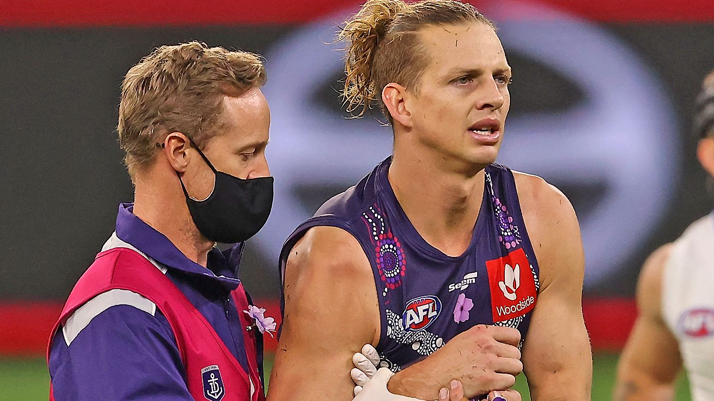 Ross Lyon suggests 'maybe it's time' for Fremantle captain Nat Fyfe to step down from role