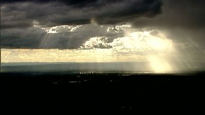 The 9NEWS chopper captured this incredible image of the approaching storm. (9NEWS)