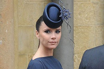 """Bea and Eugenie's hats stole the show at Wills and Kate's wedding, but Posh's headgear was pretty odd too.<br/><br/>RELATED: <a href=""""http://celebrities.ninemsn.com.au/slideshow_ajax.aspx?sectionid=8847&sectionname=slideshowajax&subsectionid=7776183&subsectionname=horsefacedcelebs"""">Celebrities who look like horses</a>"""