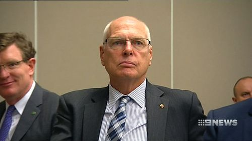 """Liberal senator Jim Molan was the centre of controversy in Parliament today after Greens senator Sarah Hanson-Young was accused of labeling him a """"white supremacist"""" (Supplied)."""