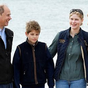 Prince Edward and wife Sophie enjoy rare outing with their children
