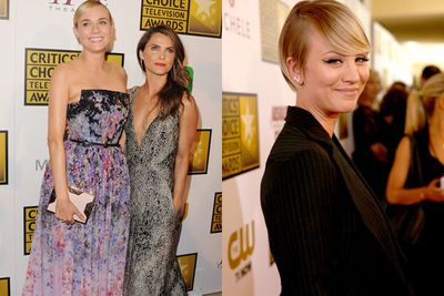 We love the Critics Choice Television Awards... especially when our best and brightest stars come out to play on the red carpet! <br/><br/>And play they did, frolicking 'round in their high-fash frocks and embracing the ever-plunging neckline trend (We're looking at you Keri Russell!)<br/><br/>From busty-in-beige Laura Prepon to super-glam star Minnie Driver, check out our fave best-dressed darlings from the night...