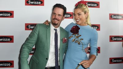 US actor Kevin Dillon and Australian model Ashley Hart strike a pose in the Birdcage. (AAP)