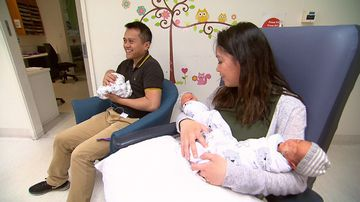 Mum gives birth to 'miracle' triplets with help of fertility assistance
