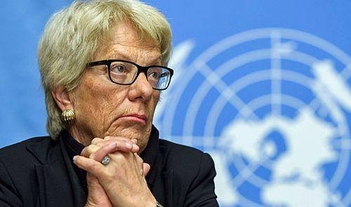 UN war crimes prosecutor Carla Del Ponte. (Photo: AP).