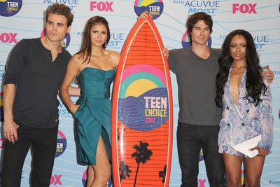 <i>The Vampire Diaries</i>' Paul Wesley, Nina Dobrev, Ian Somerhalder and Kat Graham.