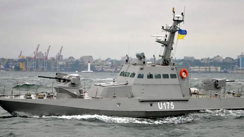 A file photo of one of the Ukrainian patrol boats reportedly seized by the Russian coastguard. (Ukraine Navy).