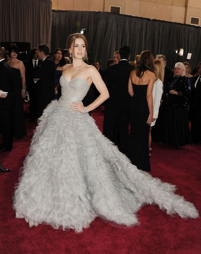 Amy Adams at the Academy Awards in Oscar de la Renta, 2013.