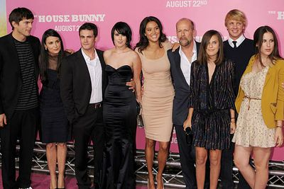 They're not such a happy family anymore (Demi and Ashton have split since this pic was taken) but the Willis-Kutcher-Moores are definitely a good looking family.