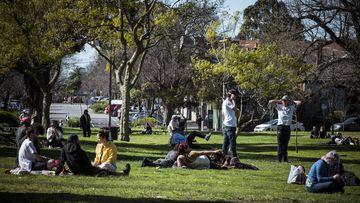 A crowded Edinburgh Gardens, Fitzroy , Melbourne.