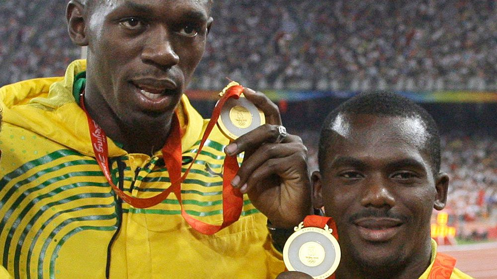 Usain Bolt and Nesta Carter. (AAP)