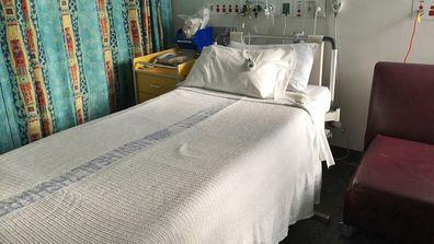 Stock photo of Sydney hospital bed.