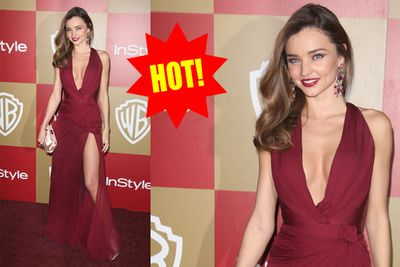 What's Miranda doing at the Globes? Who cares, she looks amazeballs.