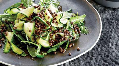 "Recipe: <a href=""http://kitchen.nine.com.au/2016/12/13/15/02/bone-broth-soaked-puy-lentil-and-zucchini-salad"" target=""_top"">Bone broth soaked puy lentil and zucchini salad</a>"