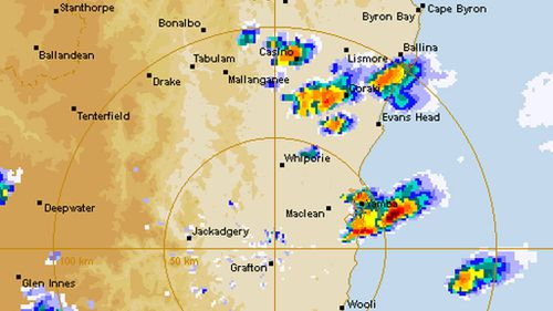 Severe storm warning cancelled in NSW and ACT following down pour of golf-ball-sized hail