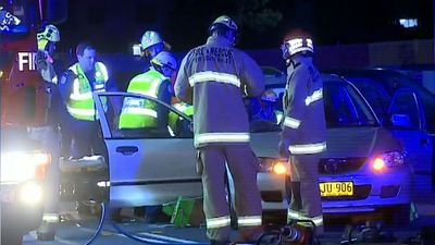 Street race crash leaves one driver hospitalised